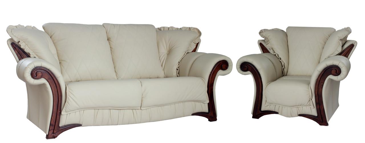 """Комплект стильной кожаной мебели """"Faero"""" (Фаэро). (3р+1)"""