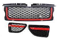 Решетка радиатора Land Rover Range Rover Sport (05-09) L320 Look Black Red Edition