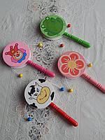 Детская деревянная игрушка погремушка барабан