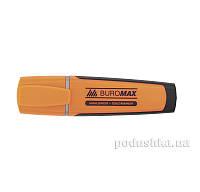 Маркер текстовый резиновые вставки оранжевый Buromax BM.8900-11