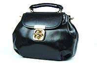 Черная маленькая кожаная сумка. Женская сумка кроссбоди. Отличное качество. Практичная сумка. Код: КДН1048