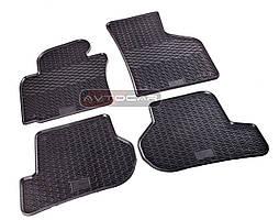 Коврики резиновые для VW Golf IV 97-/VW Bora 97- /VW New Beetle 98- ,2 шт , цвет: черный , Stingray Budget