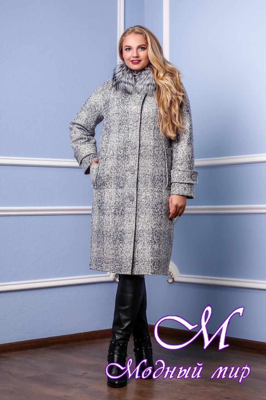 Женское зимнее теплое пальто большого размера (р. 48-58) арт. 987 Тон 1