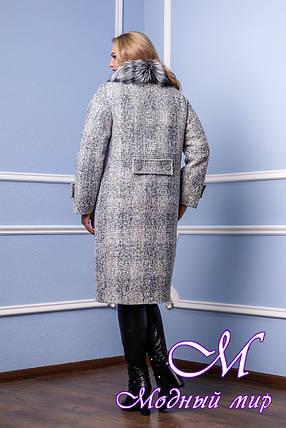 Женское зимнее теплое пальто большого размера (р. 48-58) арт. 987 Тон 1, фото 2
