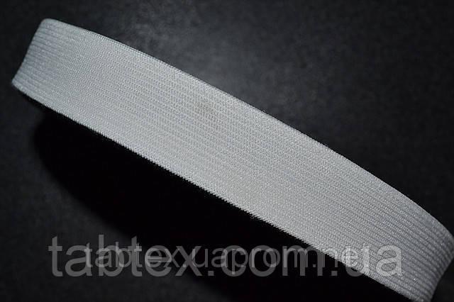 Резинка  трикотажная 25 мм.белая ( 25 м ) (китай)