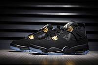 Мужские кроссовки Nike Air Jordan Retro 4 (Black/Gold), фото 1