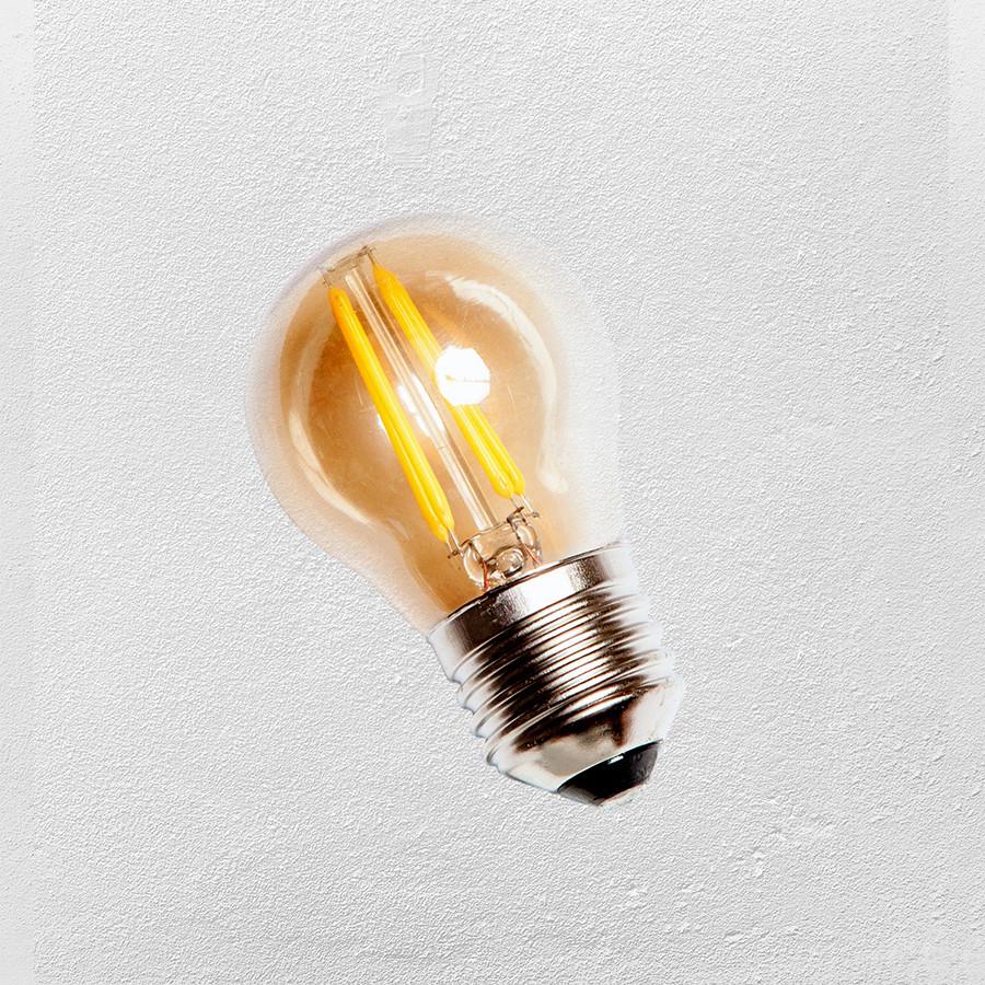 Лампа LED G45 E-27 (с сапфировой нитью) 2700K