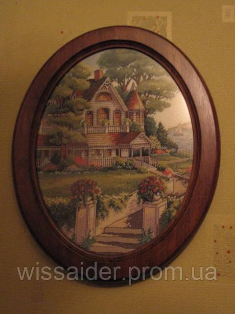 """Картина """"Сказочный дом"""" (вышита крестиком)"""