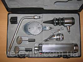 Ветеринарный набор отоскоп, офтальмоскоп, риноскоп + насадка с зеркалами LTI-105