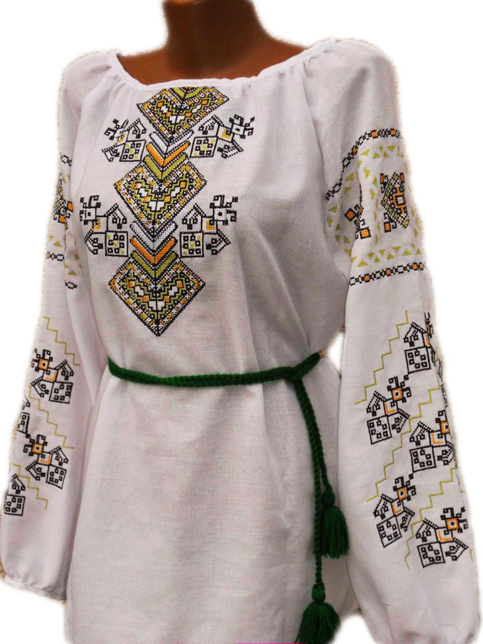 "Жіноча вишита сорочка (блузка) ""Келлі"" (Женская вышитая рубашка (блузка) ""Келли"") BN-0043"