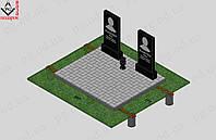 Памятники из гранита на двух и более человек №3