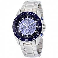 Часы мужские Michael Kors JetMaster Automatic Blue Skeleton Dial MK9024