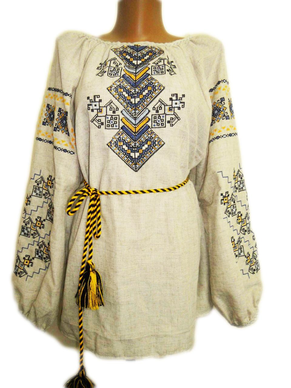 "Жіноча вишита сорочка (блузка) ""Кейрон"" (Женская вышитая рубашка (блузка) ""Кейрон"") BN-0058"