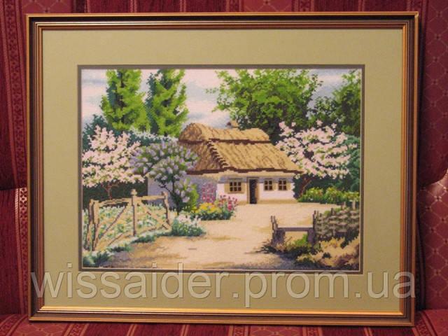 """Картина """"Домик в деревне"""" (вышита крестиком)"""