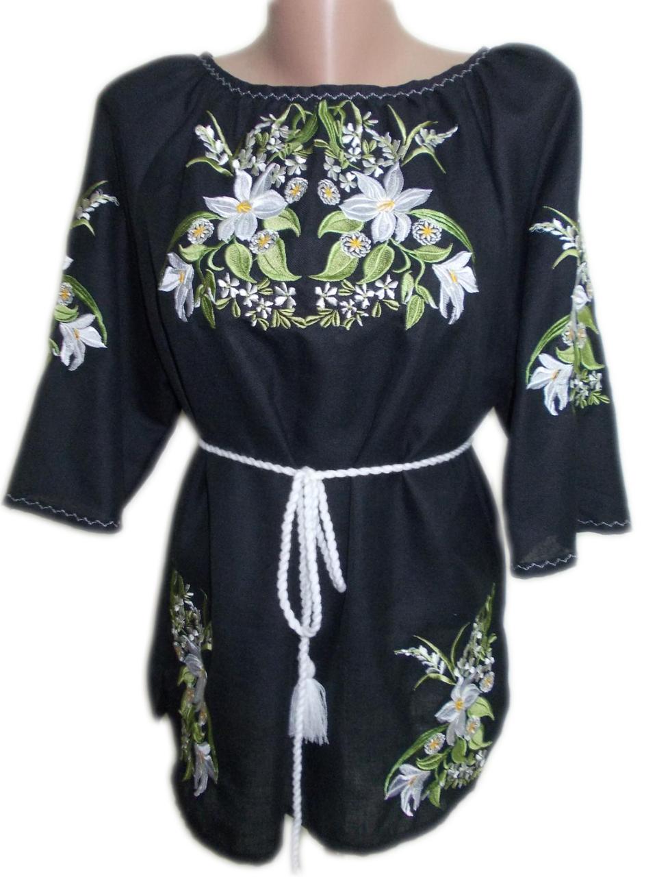 """Жіноча вишита сорочка (блузка) """"Кален"""" (Женская вышитая рубашка (блузка) """"Кален"""") BN-0067"""