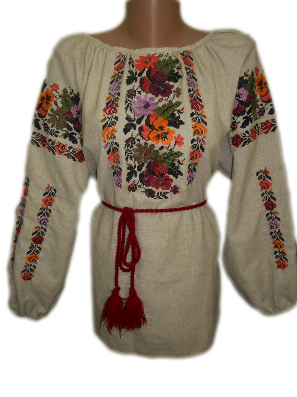 "Жіноча вишита сорочка (блузка) ""Кіллін"" (Женская вышитая рубашка (блузка) ""Киллин"") BN-0073"