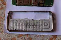 Корпусная рамка для NOKIA C6-00 белая с клавиатурой Копия ААА