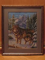 """Картина """"Волки"""" (вышита крестиком)"""