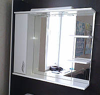 Зеркало З-02-80 Стандарт  белое (800*165*705) левое с подсветкой, ТМ Николь