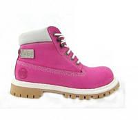 Ботинки BUSTAGRIP BGC-0830PNK+MET (нубук, кожа, черевики, рожеві, розовые)