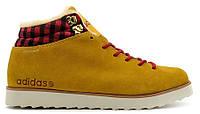 Мужские зимние кроссовки Adidas NEO Rugged (Адидас) с мехом желтые
