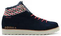 Мужские зимние кроссовки Adidas NEO Rugged (Адидас) с мехом синие