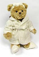 Мягкая игрушка Буковски мишка-девочка в халатике Mrs Bukowski, 30см