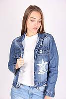Модный женский джинсовый пиджак