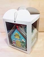 Коробка  для кулича, пряничного домика и подарков + 2 окна