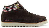 Мужские зимние кроссовки Adidas NEO Rugged (Адидас) с мехом коричневые