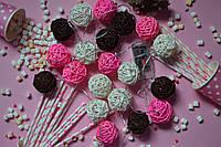 """Светодиодная гирлянда на батарейках из плетеных шариков """"Розовые мечты"""". Диаметр шарика - 5 см., фото 1"""