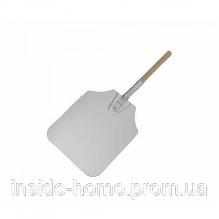 Лопата для пиццы 30*35см с деревянной ручкой 65 см Winco, фото 2