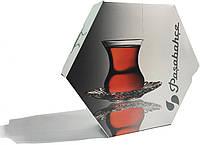 Аврора стакан+блюдце чай-кофе (6персон) Pasabahce 95961
