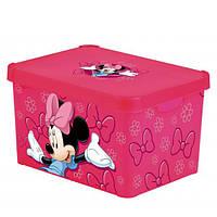 Ящик для хранения 23л розовый MINNIE