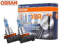 """Автомобильная галогенная лампа """"OSRAM"""" (H8)(12V)(55W)(Night Breaker Unlimited)(+110%)"""
