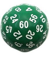Кубик d60 (зелёный)  (Dice d60 Opaque)