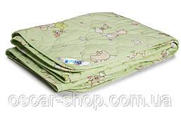 Одеяло детское демисезонное шерстяное в бязи Руно (320.02ШКУ_салатовый)