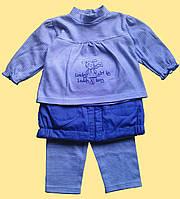 """Комплект для девочки """"Пеппи"""": блуза, теплая юбка, лосины"""