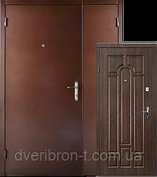 Входная дверь Форт Металл / МДФ Классик тёмный орех 1200*2050