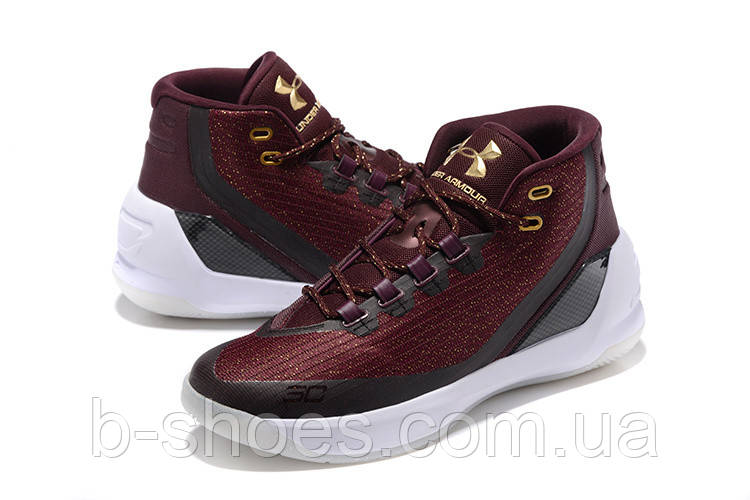 Мужские кроссовки UNDER ARMOUR CURRY 3 (Wine/ Gold)