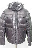 Мужской зимний пуховик с капюшоном очень теплый черный