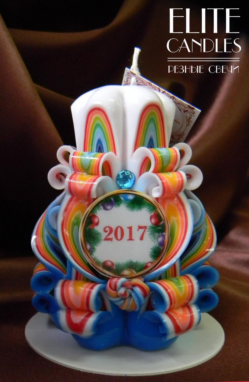 Свеча новогодняя 2017, ручной работы, материал парафин - П2, отличный подарок родным и близким - ELITE CANDLES Интернет-магазин подарков и декора в Каменце-Подольском