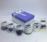 Набор из 6 свечей ручной работы с ароматом сирени
