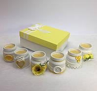 Набор из 6 свечей ручной работы с ароматом лимона