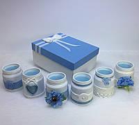 Набор из 6 свечей ручной работы с ароматом лаванды