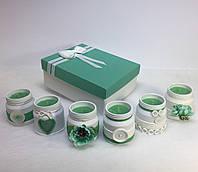 Набор из 6 свечей ручной работы с ароматом хвойного леса