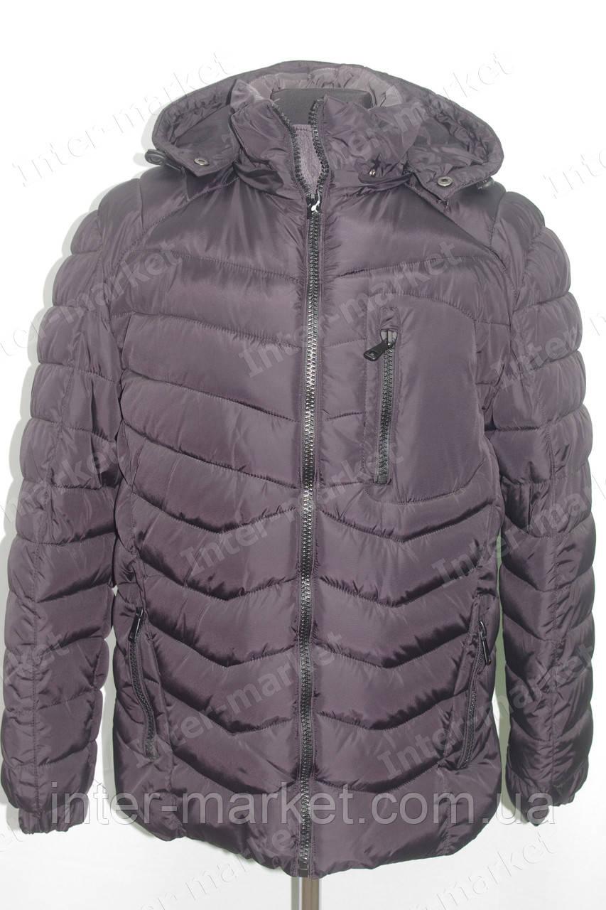 75efeaaa Мужская зимняя куртка с капюшоном очень теплая темно фиолетовая - интернет  магазин