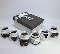 Набор из 6 свечей ручной работы с ароматом земляники