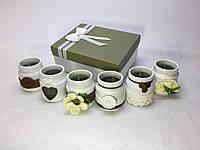 Набор из 6 свечей ручной работы с ароматом лесного ореха