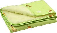 Детское одеяло Руно овчина-хлопок салатовое (320ОУ_салатовый)